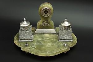 Юбилейный письменный набор капитана, Л.Гв. 1-ой артиллерийской бригады, 1902-1912 годы