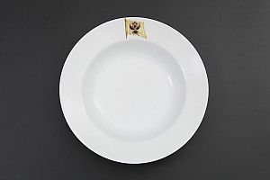 """Тарелка для первых блюд из сервиза императорской яхты """"Штандартъ"""", ИФЗ, Россия"""